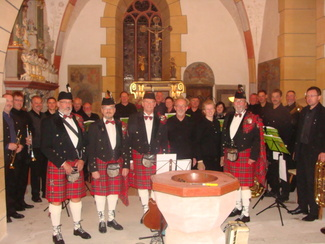 Konzert mit Pipes and Drums